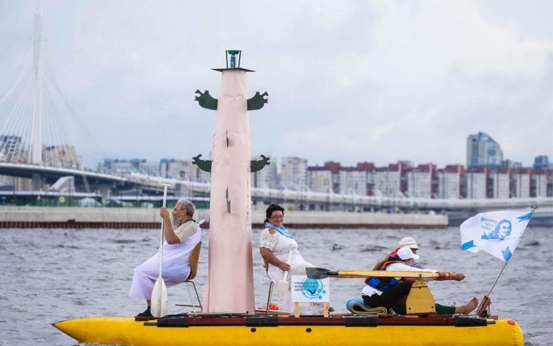 Шоу самодельных плавательных конструкций в парке 300-летия